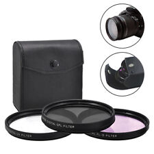 72mm 3 Piece HD Lens Filter Kit For Canon Nikon Sigma Sony Fujifilm Olympus Lens