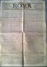 ROMA GIORNALE POLITICO QUOTIDIANO DEL 1903 - IL VIAGGIO DEI REALI D'ITALIA - 581