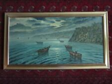 """GORGEOUS VINTAGE OIL ON CANVAS PAINTING SIGNED ORIGINAL 52"""" x 29"""""""