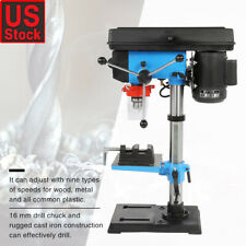 """13"""" Bench Laser Drill Press 1/2 HP Motor Garage Power Tools Adjustable"""
