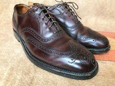 Vtg Shell Cordovan Wingtip Longwing Brogues Blucher Shoes Burgundy 10.5