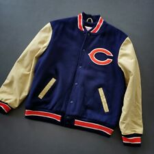 100% Authentic Bears Mitchell Ness Wool Leather Varsity Jacket Size L 44 Mens