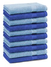 10er Pack Seiftücher Premium Farbe: Royalblau & Hellblau, Größe: 30x30 cm