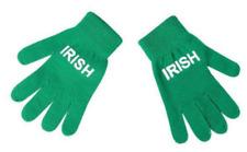 St. Patrick's Day Acrylic Irish Print Knit Gloves