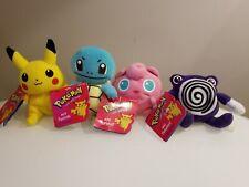 Lot of 4 Plush Nintendo Creatures Pokemons 1995-98 Hasbro