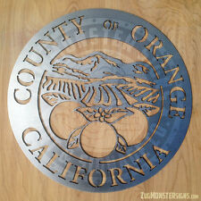 Orange County Metal Wall Art