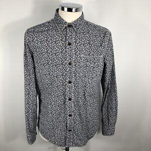 Men's Fat Face Superb Floral Patterned Long Sleeved Shirt Size Medium Slim Fit