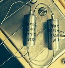 PAIR (2X) .022 630v VINTAGE RUSSIAN K73-22 TONE CAPACITORS - NOS 0.022