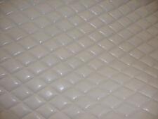"Vinyl Leather Faux vinyl White 2""x3""  Diamond headliner headboard fabric 3 yards"