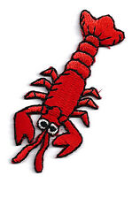 Lobster - Seafood - Chef - Embroidered Iron On Applique Patch