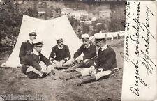 #GENOVA-dintorni 24-12 1904- MANOVRE MILITARI- fotocart. privata al bromuro