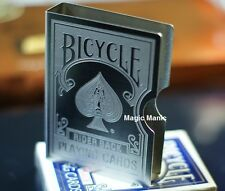 BICYCLE ENGRAVED STAINLESS STEEL CARD CLIP GUARD