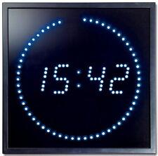Multi Led Wand Uhr Digitale Große Anzeige Digital 143 blau Led´s Digitaluhr NEU