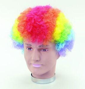 Rainbow Pop Clown Wig Fancy Dress Costume Accessory