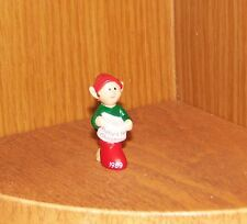 Hallmark Merry Miniature 1989 Elf with Baby's First Stocking Christmas