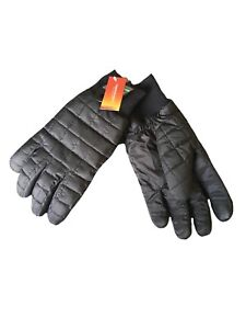 Thermowarmth Wind Resistant Black quilted gloves Men's S/M Lightweight insulated
