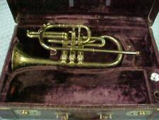 Antique Besson & Co Prototype Chicago Bore Cornet Great Engraving!