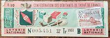 Billet de loterie nationale 1951 32e tranche série B - Débitants de Tabac 1/10