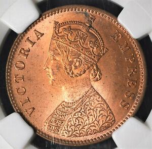 India British 1889(C) 1/4 Anna NGC MS65RD Certified
