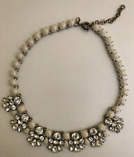 J Crew White Crystal Statement Necklace NEW!