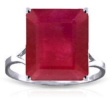7.5 ct Platinum Plated 925 Sterling Silver Ring Natural Octagon Ruby