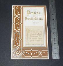 CHROMO 1900-1930 IMAGE PIEUSE CATHOLICISME HOLY CARD VIANNEY CURE D'ARS
