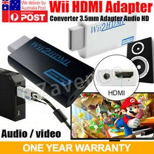 Wii HDMI Adapter Audio Video Output to HD 1080p Converter 3.5mm Melburne