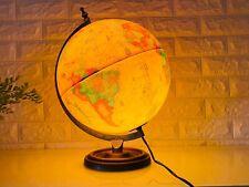 Vintage Scan Globe Illuminated World Globe, Celestial Globe, Denmark Retro