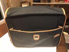HARTMANN Briefcase Black Brown Leather Trim Nylon Travel Carry On Hand Bag