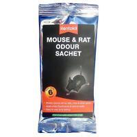 Rentokil Mouse & Rat Odour Sachets, Masks/Covers Smell Left by Mice Rats & Pests