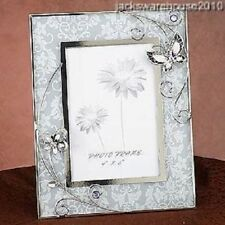 Charming Purple Butterfly Metal Wire And Glass Picture And Photo Frame