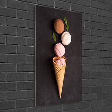 Wandbild Druck auf Plexiglas® Acryl Hochformat 50x100 Eiscreme