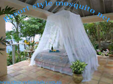 BALI RESORT BED CANOPY MOSQUITO NET HANGING MUSLIN NETTING MESH INSECT FLIES