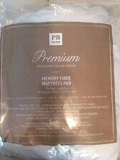 Pottery Barn Teen Premium Bedding Memory Fiber Mattress Pad Full White Topper