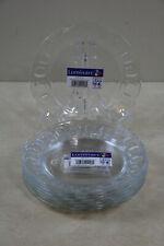 Luminarc Roc Arcoroc Clear Glass Dessert / Lunceon Plates New Lot of 8 Plates