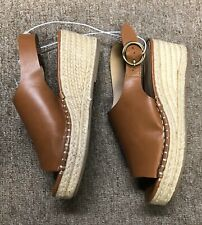 MASSINI Maria  Wedge Sandals Women's Size 6M Cognac