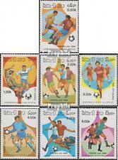 Laos 882-888 (complète edition) neuf avec gomme originale 1986 Football-WM dans