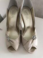 Rachel Simpson Beige Satin Occasion Shoe Size 7