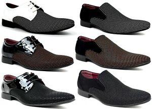 Men New Smart Slip On Front Buckle Fashion Formal Office Shoes UK Size 6-11
