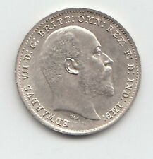 More details for very rare edward vii 1902 matt proof silver maundy threepence 3d
