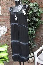 Sommer Strand Kleid Trägerkleid Batik Schwarz Häkel Süß Einheitsgrösse 40-42-44