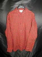 Duluth Trading 2X Red Innes Tartan Plaid Highlands Flannel Shirt Relaxed Fit 2XL