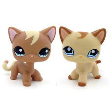 LPS 1170 Littlest Pet Shop Brown Cat Blue Eyes Kitty 1024 Caramel Cat Girl Gift
