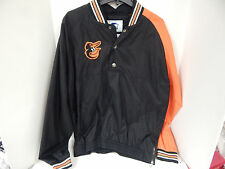 Starter Baltimore Orioles Dugout Men's Sample Snap Front Pullover Black/Orange-L