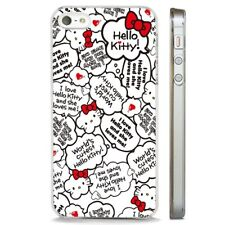 Hello Kitty Cute Quotes CLEAR PHONE CASE COVER fits iPHONE 5 6 7 8 X