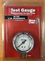 "Sioux Chief 60 PSI Gas Test Pressure Gauge 1/4"" MIP, Replacement, 2"""