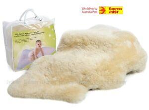 New Cozy Natural Sheepskin Baby Blanket Play Rug Lambskin Mat Shower Gift