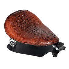 Alligator Leather Solo Driver Seat Mount Base Spring Bracket Set For Harley 883