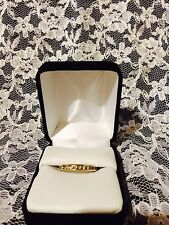 GOLD 14K DIAMOND 1/2 Carat WEDDING Band/ANNIVERSARY Ring Sz 8