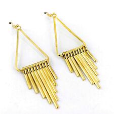 Egyptian style gold coloured chandelier dangle earrings